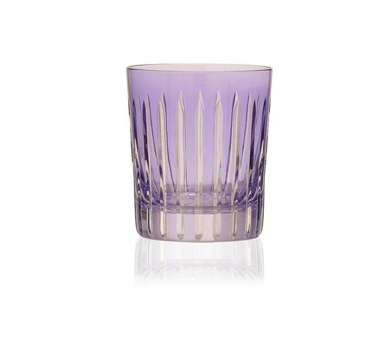 Lavender Shining Star Crystal Tumbler, set of 2
