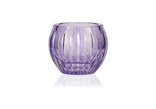 Lavender Crystal tealight votive / vase