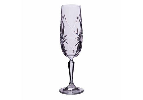 Katherine Crystal Champagne Flutes, set of 6