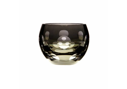Dot Tealight Candleholder in Smoke