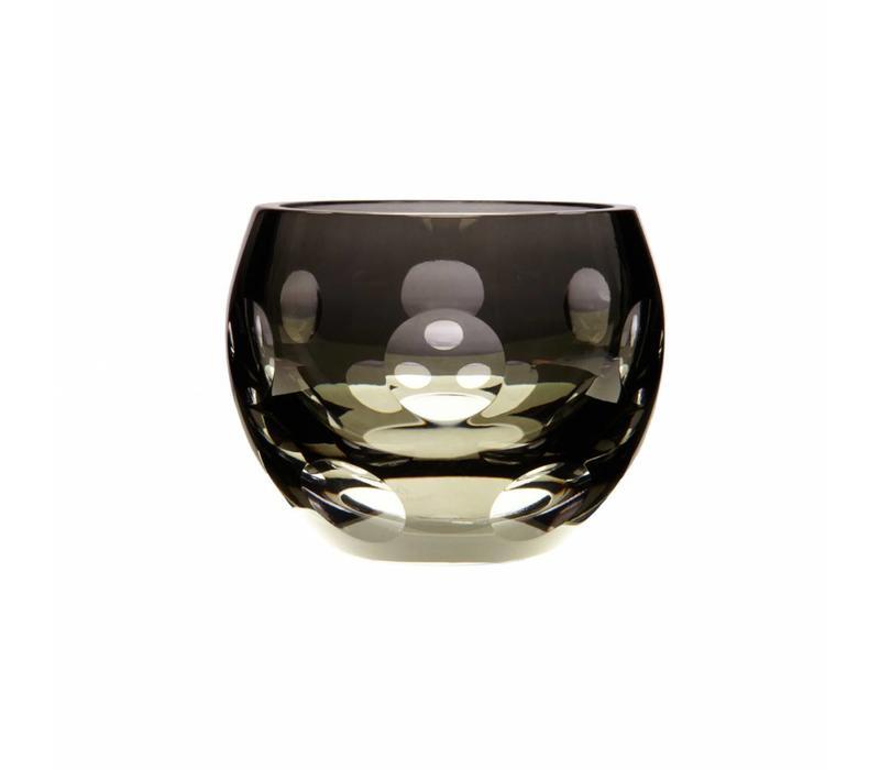 Dot Tealight Candleholder in Smoke