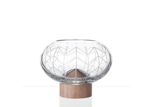 Bomma  Glass Mount crystal bowl by Arik Levy