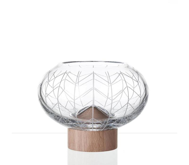 Glass Mount crystal bowl by Arik Levy