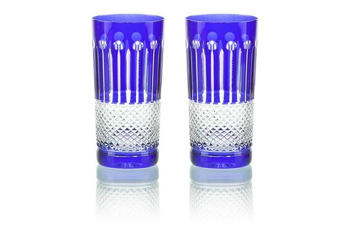 Cobalt Crystal High Ball, set of 6