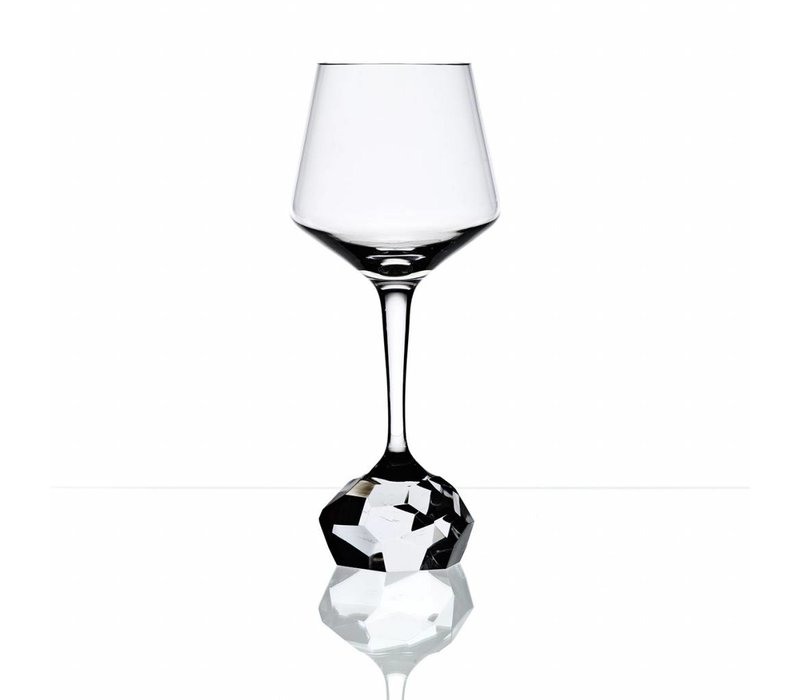 Bomma STONE Jiri Pelcl Red Wine Crystal Glass, set of 2