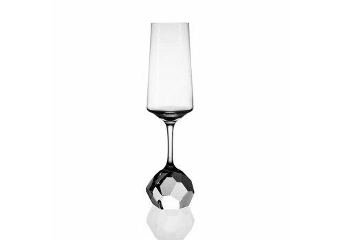 Bomma STONE Jiri Pelcl Champagne Crystal Flute, set of 2