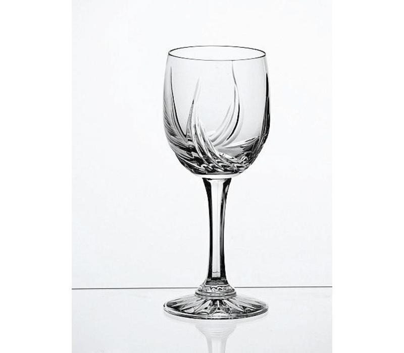 Aurora Crystal White Wine Glasses, set of 6
