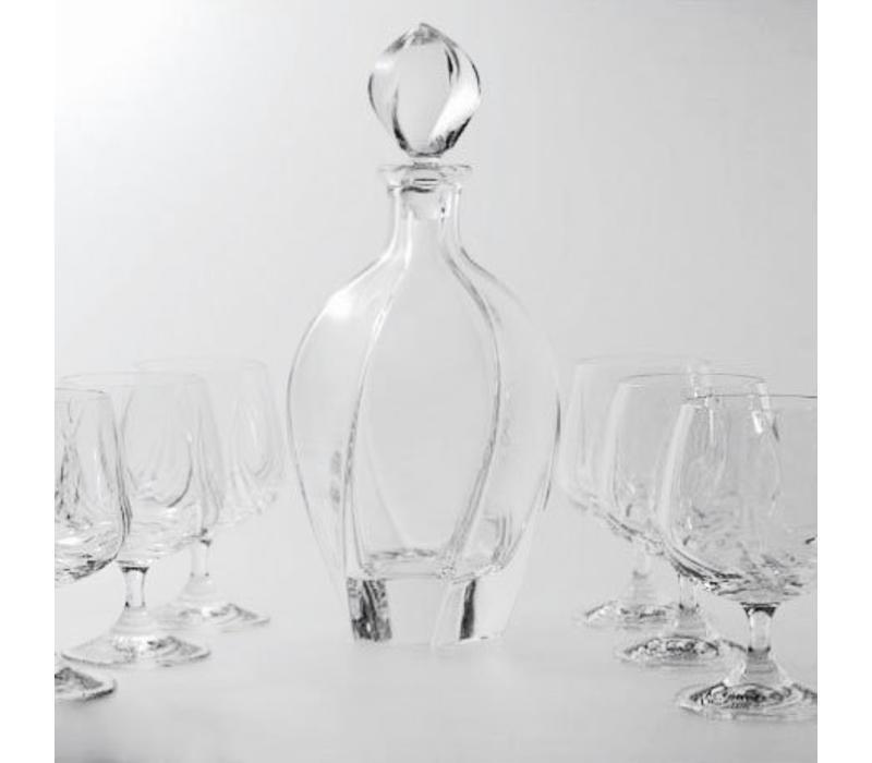 Aurora Crystal Brandy Set