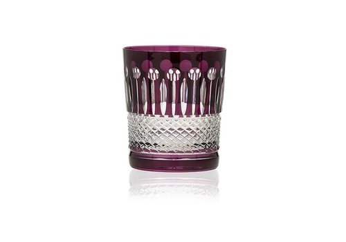 Gurasu Crystal  Aubergine Crystal Tumblers, set of 2