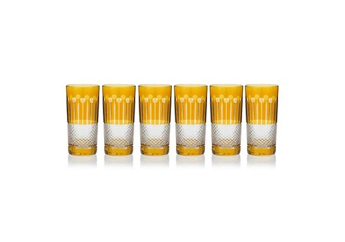 Amber Gold High Ball glasses, set of 6