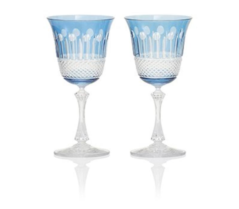 Sky Blue Wine Glasses, set of 2