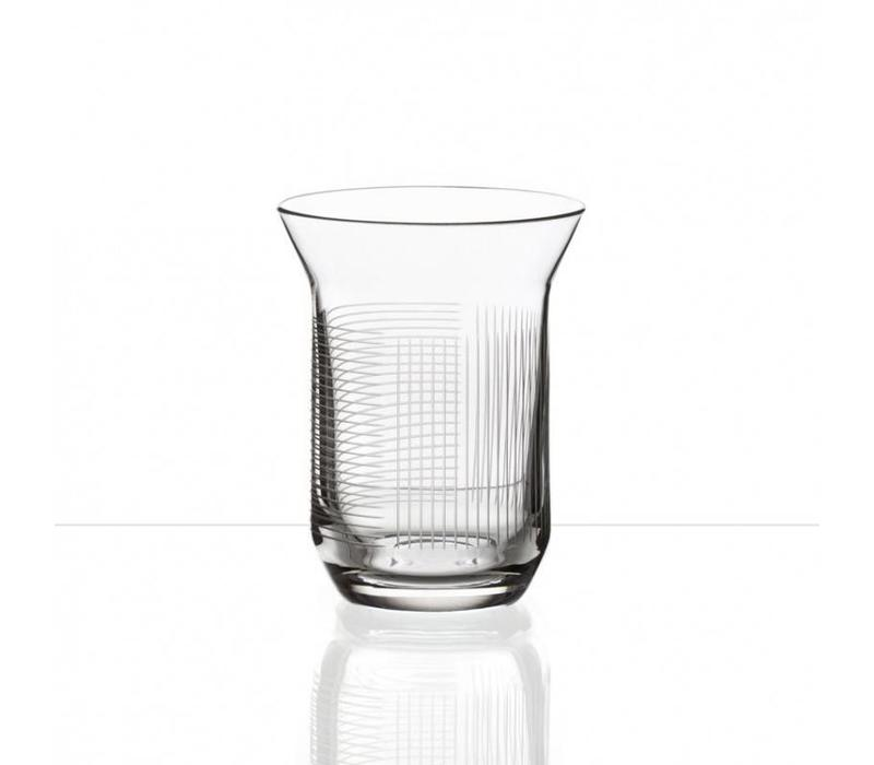 Lines crystal water glasses, set of 2