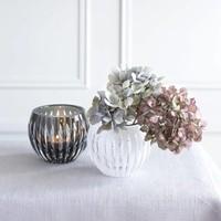 Shining Star White Crystal Tea Light Votive / Vase