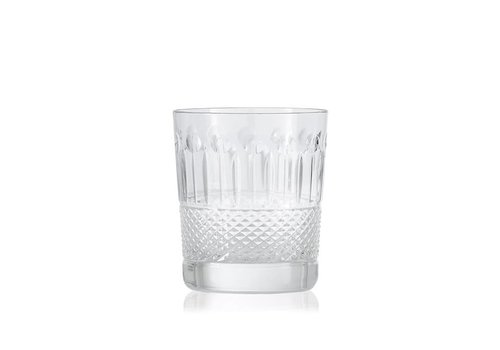 Clear Crystal Whisky Tumbler, set of 2