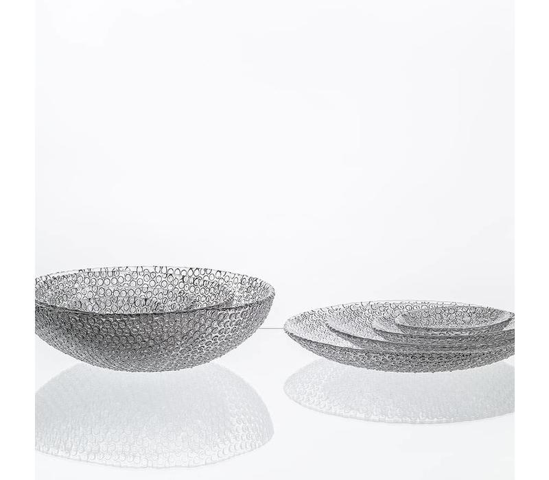 Bubble Crystal small plate,15.5cm, pair