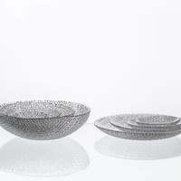Bubbles Medium Crystal Plate, 27cm