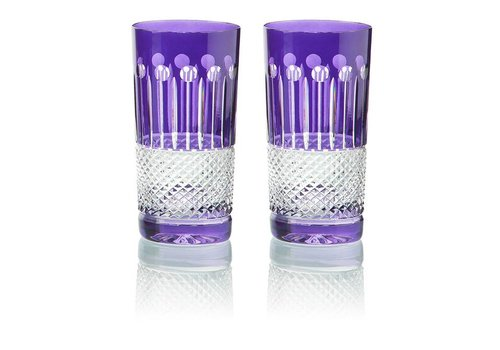 Gurasu Crystal  Purple Crystal High Ball Glasses, set of 6