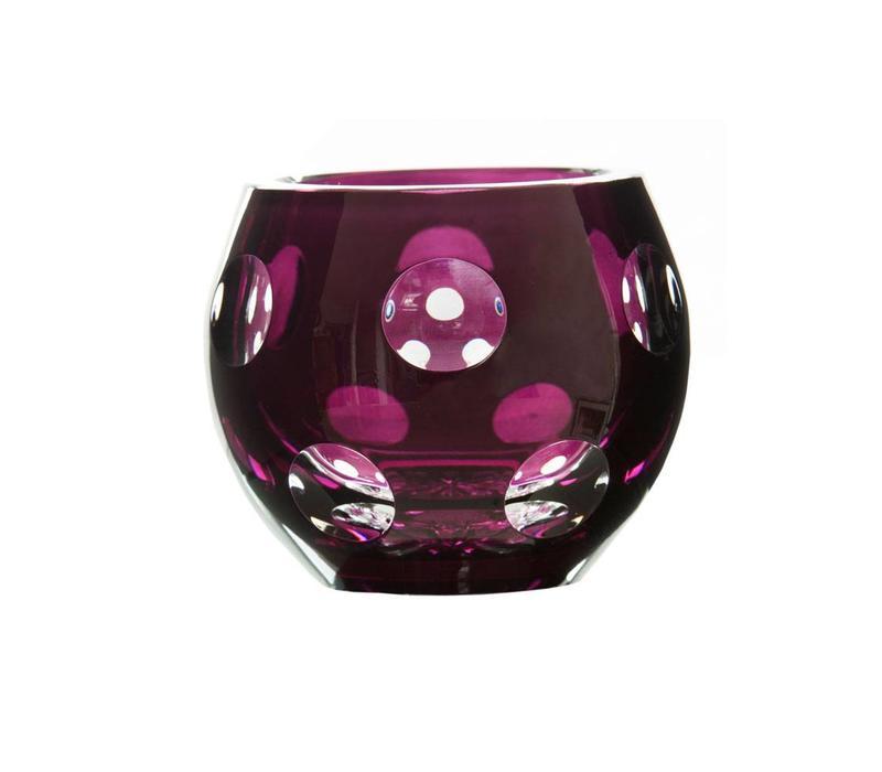 Aubergine Dot Tealight Candleholder
