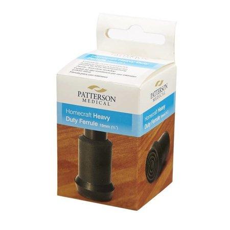 Patterson Medical Krukdop - 19 mm zwart - heavy - voor intensief gebruik