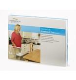 Patterson Medical Dienblad met hengsel eenhandig gebruik