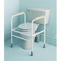 Toiletoverzet frame - armsteunen - verstelbaar 70-85 cm