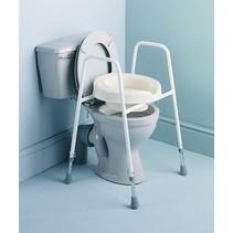 Toiletoverzet Frame + pot + armleuningen - rond