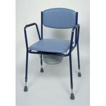 Toiletstoel - vaste armsteun  - stapelbaar - 3 stuks
