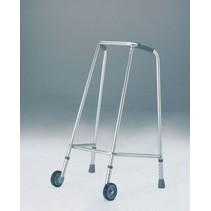 Looprek smal met wielen in hoogte verstelbaar 73-81 cm