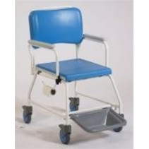 Douchestoel / Toiletstoel - wielen - voetsteun