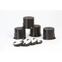 Meubelverhogers  - set van 4 stuks -  verstelbaar van 3,8 tot 10 cm