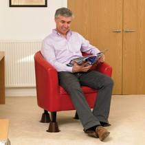 Bedverhoger of stoelverhoger stapelbaar 14cm  set van 4 stuks, Ø 4,5 cm
