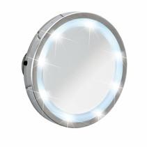 Wenko spiegel Mosso, LED, zuignappen, 11,5 cm, 3x vergr.