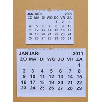 Grootletter maandkalender A4