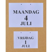 Grootletter dag-kalender -  A5 / A4