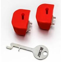 Kiephendelstop veiligheidsslot - 2 stuks voor 1 beugel - Mobeli®