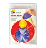 Able2 Able2 Anti-slip keukenset - blauw / rood / geel