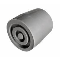 Kruk- en stokdoppen - 27mm - zwart/grijs - 2stuks