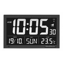 Radiografische klok met temperatuur XL - groot - L 36,8 x B 3 x H 23 cm
