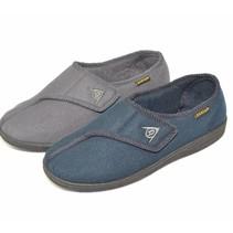Dunlop Pantoffels Arthur - heren - grijs / blauw - maat 40 tot 46