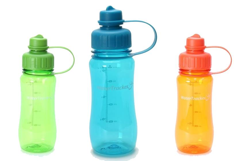 Waterfles met Tracker 0,5L - Verschillende kleuren