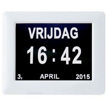 LOW VISION DESIGN Digitale LED kalenderklok