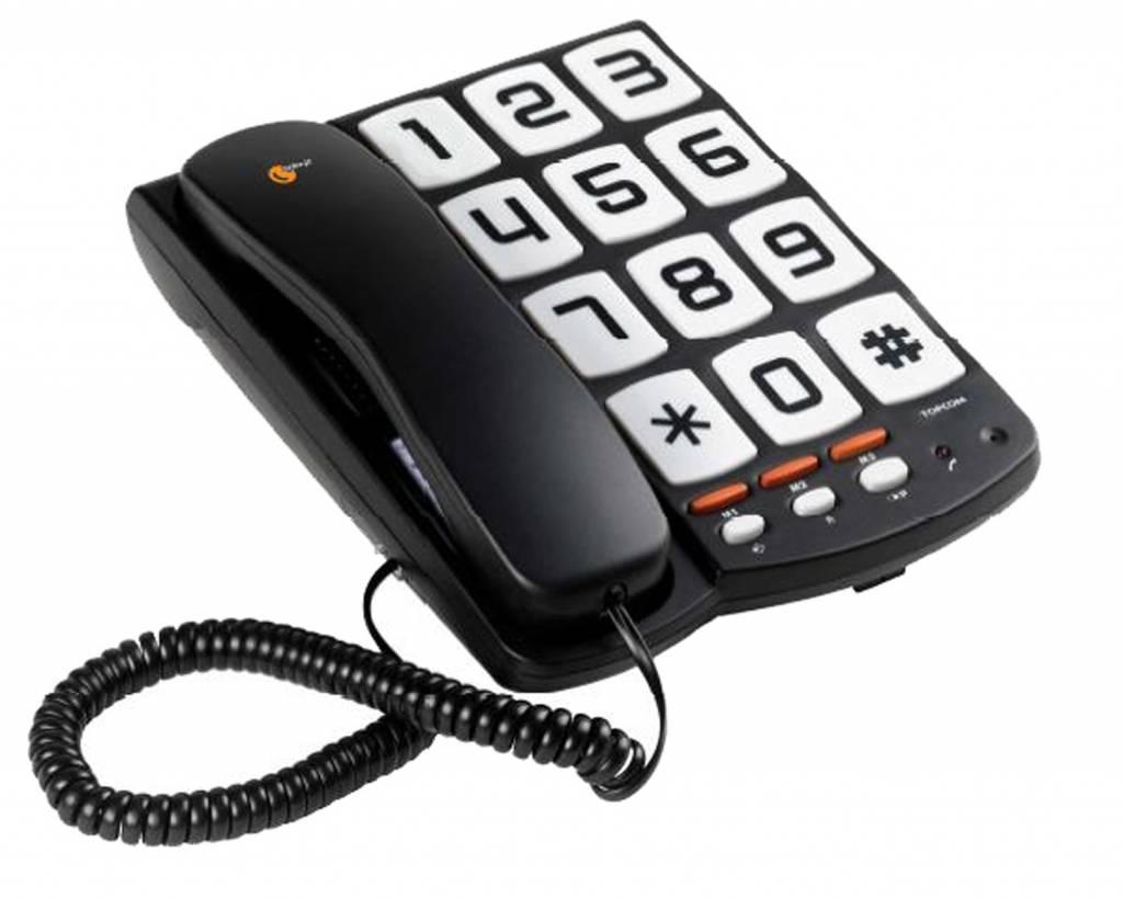 Topcom Sologic T101 grote toetsen huistelefoon