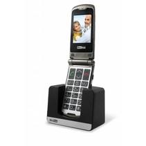 Maxcom MM 822 BB - klaptelefoon -GSM voor slechtzienden - wit / zwart