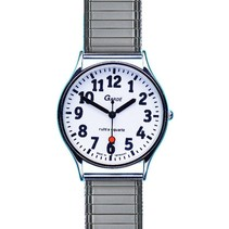 Garde Low Vision witte wijzerpl. herenhorloge, chr. 44-5MZ