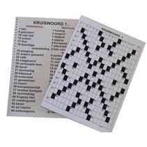 Kruiswoordpuzzel 3ster grootletter uitvoering