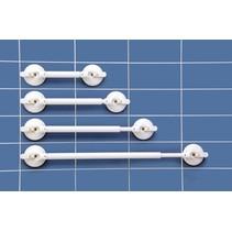 Mobeli®  Wandbeugel - Uitschuifbaar 34 - 46,5 cm