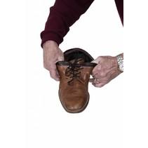 Elastische schoenveters - 61 / 94 cm - wit / bruin / zwart