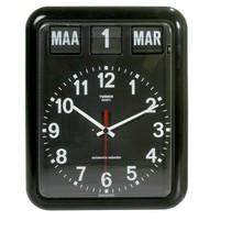Kalenderklok BQ-12A  - ZWART / WIT