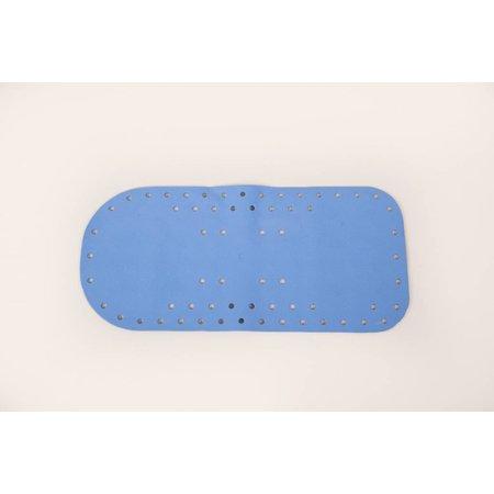 Able2 Anti-slip bad - en douchemat - 75 x 35 cm - wit / blauw / licht-blauw