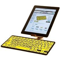 Geavanceerd toetsenbord  voor iPad, iPhone en Mac - achtergrond - wit / zwart / geel